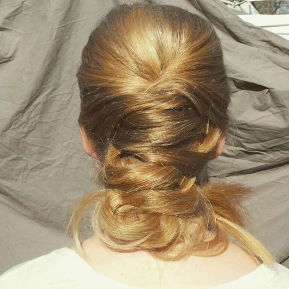 Longhair updo by visual images