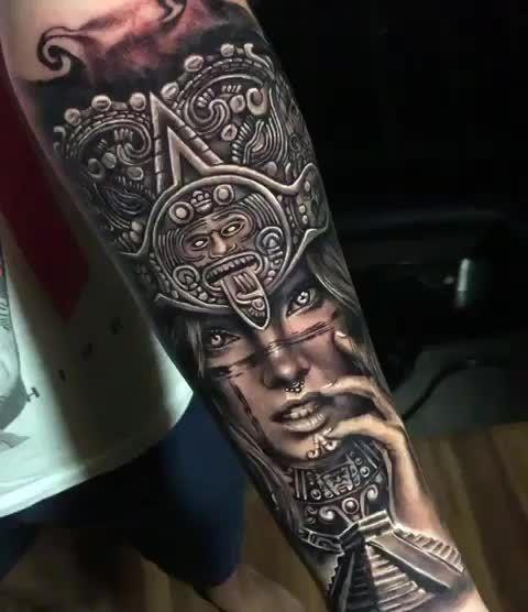 Inca Woman Artist Victorlosnitattoos Maoritattoo In 2020 Aztec Tattoo Aztec Tattoos Sleeve Mayan Tattoos