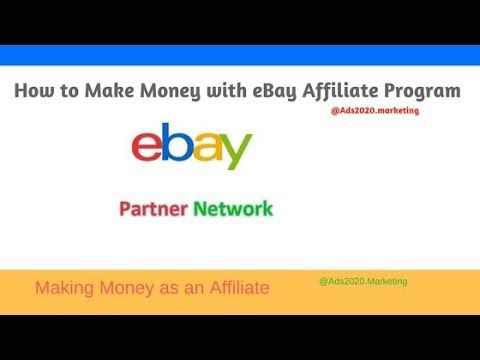 How You Can Make Money With Ebay Partner Network As An Ebay Affiliate In Marketing Guru How To Make Money Motivational Videos