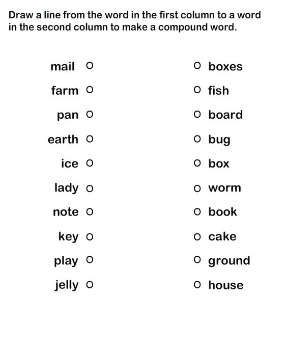 Printables Grammar Printable Worksheets compound words printable worksheets for practice grammar kids