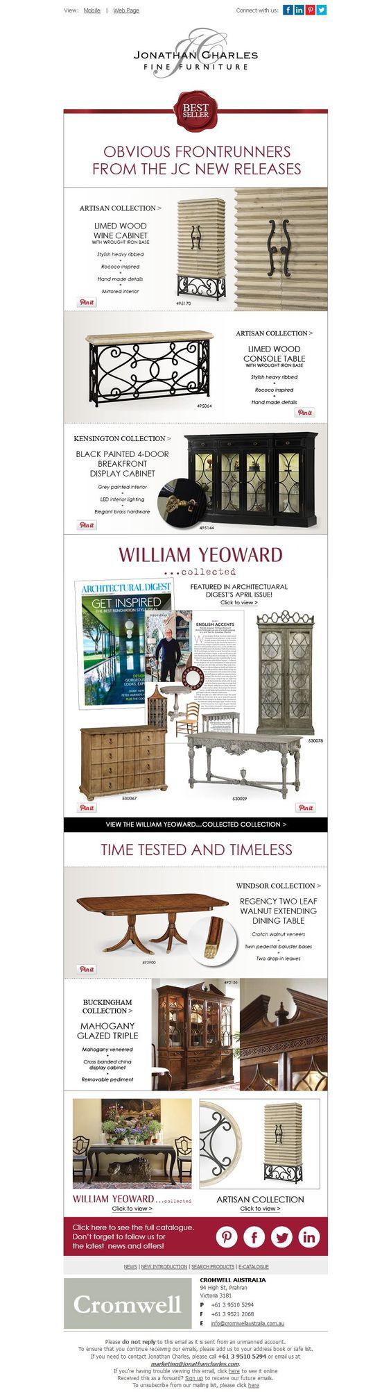 Best Seller - April 2014: Obvious Frontrunners From The JC New Releases #jcfurniture #jonathancharles #Furniture #InteriorDesign #decorex #hpmkt