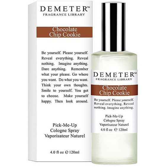 Demeter Chocolate Chip Cookie Women's 4-ounce Cologne Spray (Demeter... (85 SAR) ❤ liked on Polyvore featuring beauty products, fragrance and demeter fragrance library