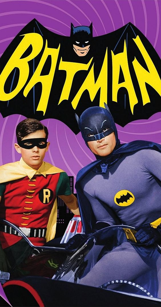 Batman, Created by William Dozier.  With Adam West, Burt Ward, Alan Napier, Neil Hamilton. The Caped Crusader battles evildoers in Gotham City in a bombastic 1960s parody of the comic book hero's exploits.