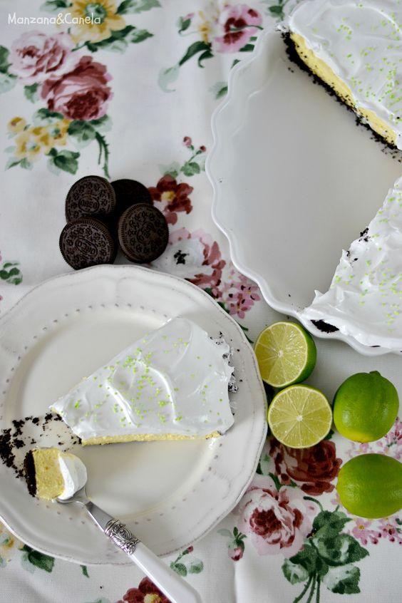 Tarta de Oreo y Lima. Oreo & Lime Pie.