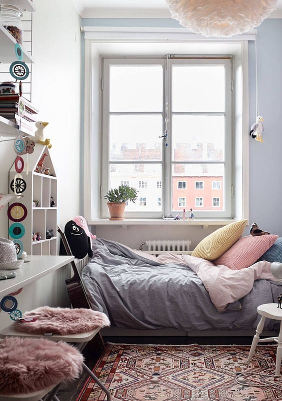 "For today's Interior Tuesday I am taking you up to Stockholm again. We are visiting this lovely family apartment situated in the district of Södermalm – Sofo. The area SoFo, translates into ""South of Folkungagatan"". This lovely apartment is another great 'case study' on how to maximize space. One shared bedroom and another small kids …"