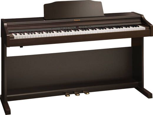 Home Digital Piano With Bench Rosewood Long Mcquade Digital Piano Piano Digital Piano Keyboard