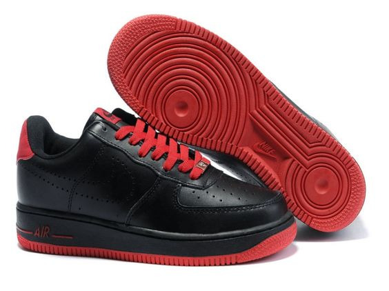 Black Red Sole Heren Nike Air Force 1 25th Low Schoenen 93887
