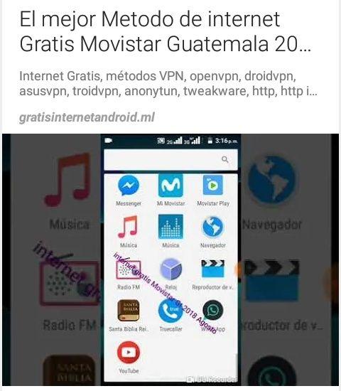 El Mejor Metodo De Internet Gratis Movistar Guatemala 2018 Agosto
