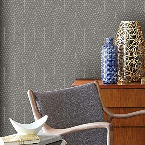 Roommates Twig Hygge Herringbone Grey Peel And Stick Wallpaper Roommates Peel And Stick Wallpaper Changing Wall Color Room Visualizer