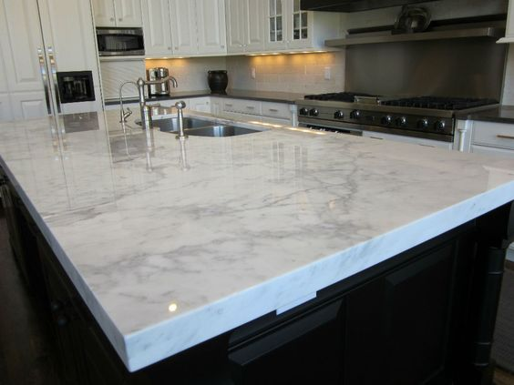 white-kitchen-cabinets-with-quartz-countertops-plus-low-faucet-double-handle-with-white-kitchen-cabinet-color-also-kitchen-island-pale-green-color-then-hardwood-floor