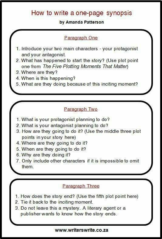 Http  writerswriteza how-to-write-a-one-page-synopsis-1 - how to write a