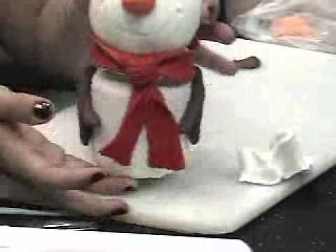 Pote com Presépio e boneco de neve em Biscuit - YouTube
