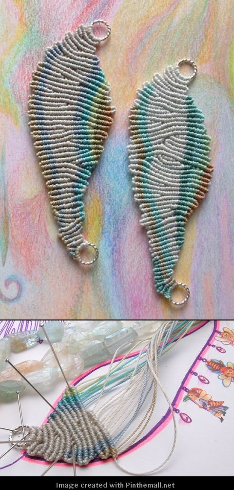 too gorgeous micro macrame pieces - how about some earrings?