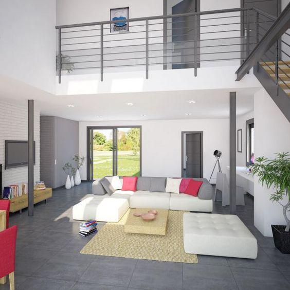 Mod le et plan de maison volume etage avec ou sans garage for Constructeur maison 63 tarif