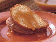 Brown Sugar Cake with Rum-Caramel Sauce Recipe from Betty Crocker