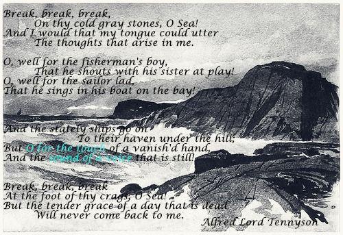 break break break alfred lord tennyson inspirational break break break alfred lord tennyson inspirational alfred lord tennyson lord and inspirational