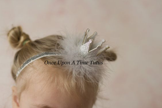 Check out this item in my Etsy shop https://www.etsy.com/listing/180444055/silver-glitter-crown-feather-headband