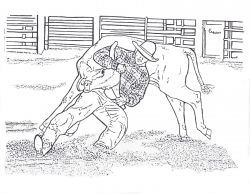saddle bronc riding coloring pages - photo#36