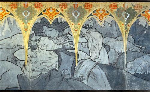 lost-in-centuries-long-gone:  Alfons Mucha (Paris 1900, musée du Petit Palais) by dalbera on Flickr.