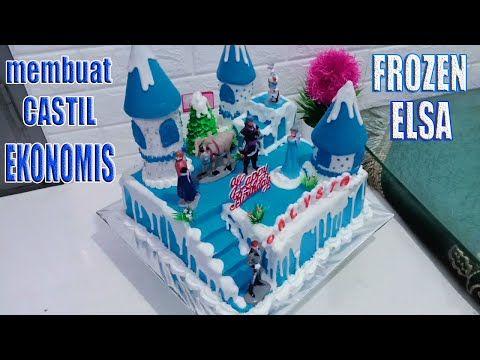Membuat Castil Frozen Ekonomis Dr Karton Dekor Full Butter Cream Youtube In 2021 Butter Cream Frozen Cake