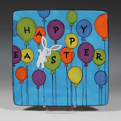 EasterBunnyBalloonPlate