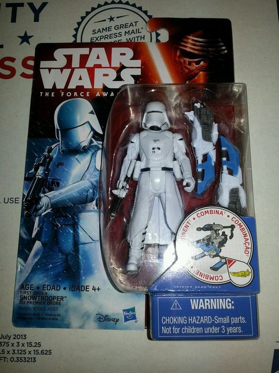 """Star Wars: The Force Awakens Hasbro 3.75"""" First Order Snowtrooper action figure in Toys & Hobbies, Action Figures, TV, Movie & Video Games 