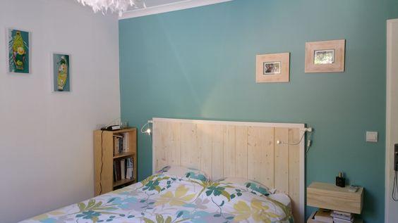 Merlin ikea and tables on pinterest for Tete de lit en bois fait maison