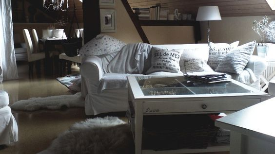 In the white: IKEA living room