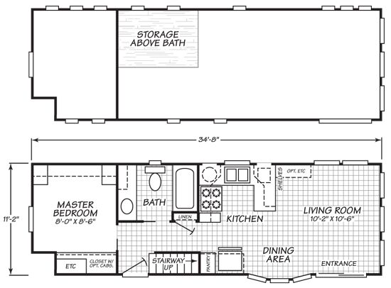 cavco virginia park model 200 tiny house floor plan 02 Guest