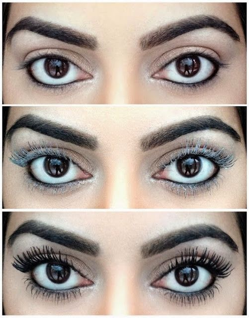 Thicken Lashes with Baby Powder