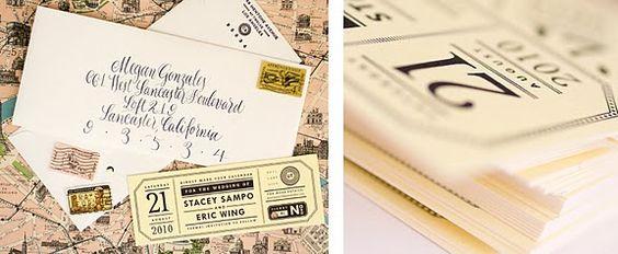 Paris wedding invitation. We like!
