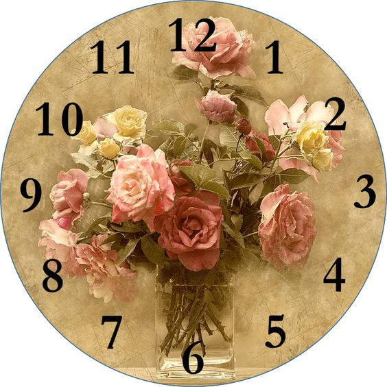 #decoupage #clock-face #printable Click for more Smells ...