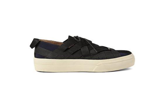DRIES VAN NOTEN Webbing-Trimmed Nubuck Sneakers