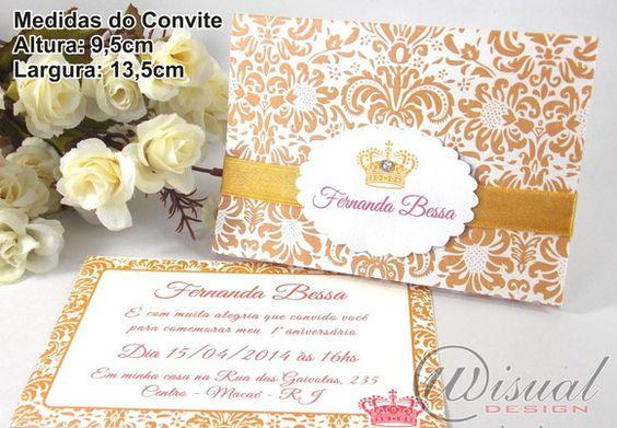 Convite Infantil Princesa Provençal