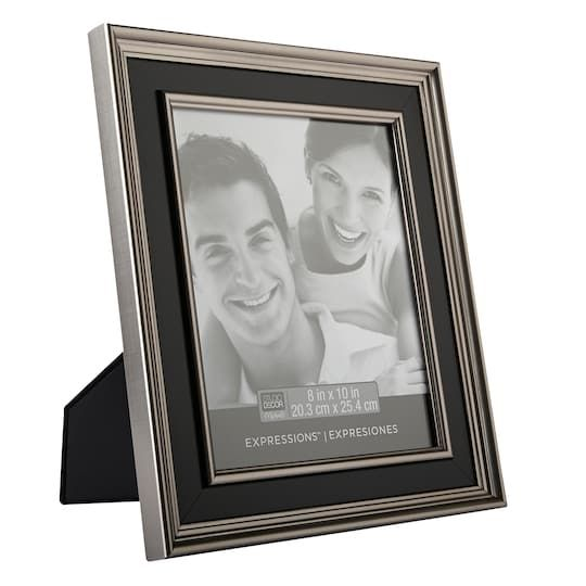 Silver Black Hampton Frame 8 X 10 Expressions By Studio Decor Studio Decor Frame The Hamptons