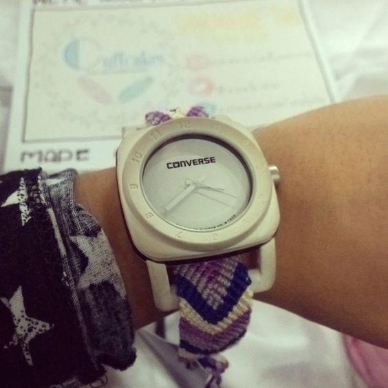 Violet Chevron Bracelet as a Watch Strap! Cutie <3