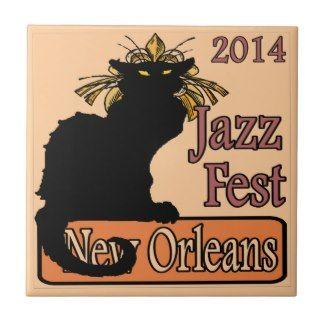 Jazz Fest Chat Noir 2014 Ceramic Tiles