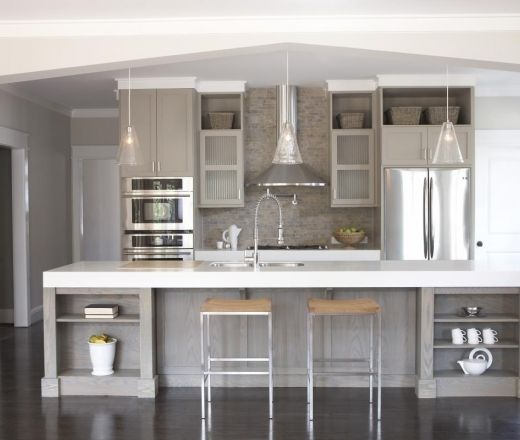 Modern Kitchen Paint Colors With Oak Cabinets: Grey Kitchens, Kitchen Grey And Grey Cabinets On Pinterest