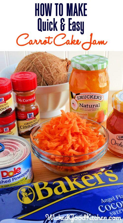 Easy carrot cake, Carrot cake jam and Pineapple coconut on Pinterest