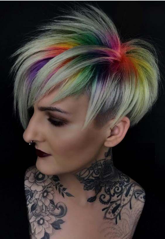 46 Trending Hair Color Styles For Short Hair 2018 Stylescue In 2020 Hair Styles Hair Color Crazy Short Hair Styles