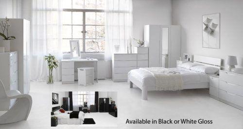 White Gloss Bedroom Furniture Freestanding Bedroom Furniture
