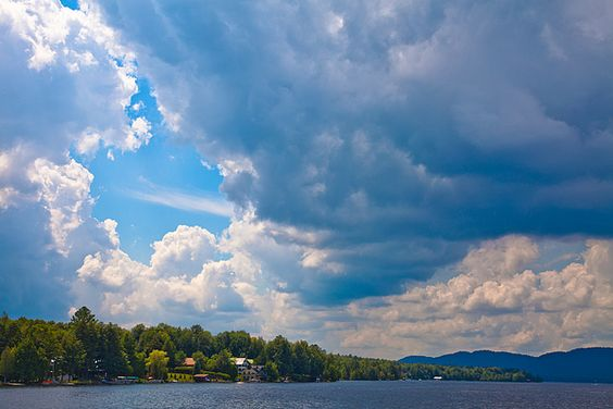 #ADK#Inlet#Adirondacks - Clouds Over Inlet - Taken on Fourth Lake in Inlet, New York.