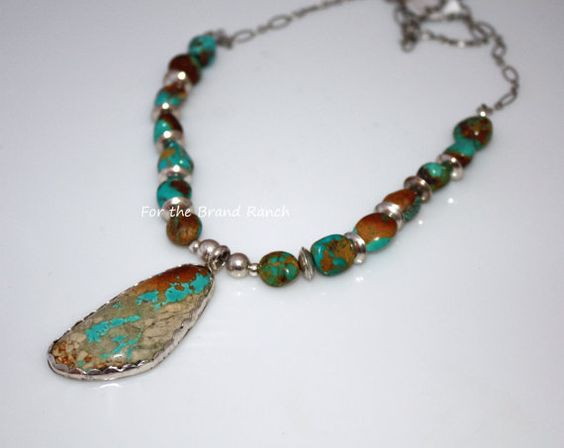 Nevada's Royston and Boulder Turquoise Necklace by forthebrand, $80.00