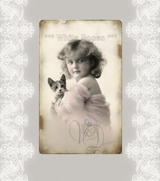 Karte Vintage Dreams von White Roses auf DaWanda.com