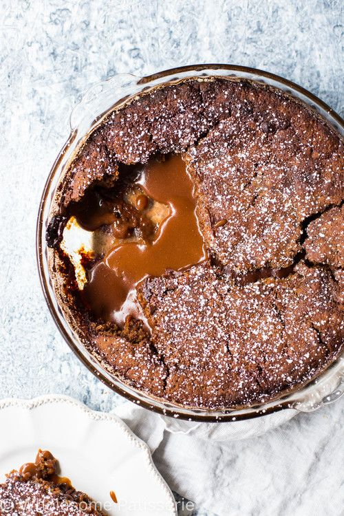 self-saucing-chocolate-pudding-gluten-free-delicious-chocolate-dessert #sweet #food #saucing #pudding #chocolate #dessert #L4L #chocolates #love #delicious