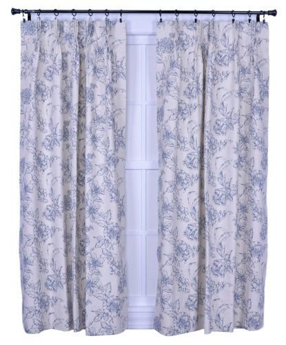 Ellis Curtain Andrea Thermal Insulated 48-by-54-Inch Pinch Pleated ...