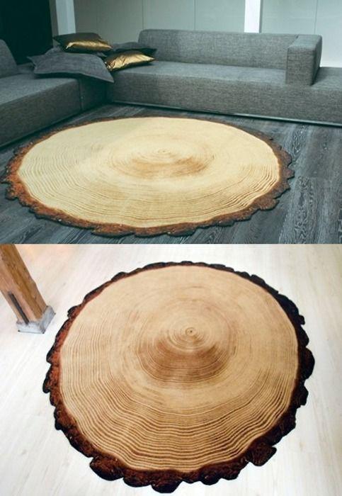 log rug love this idea