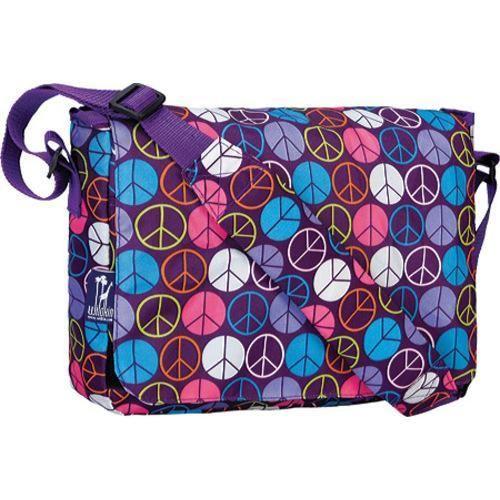 Wildkin Purple Peace Signs Kickstart Messenger Bag