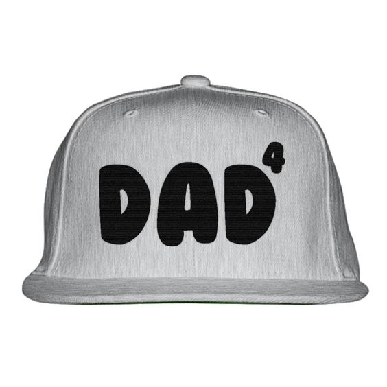 Dad Of 4 Embroidered Snapback Hat