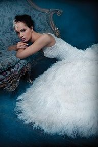 Ballerina flair #weddings #gowns #bride